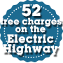 52 free charges on the Electric Highway