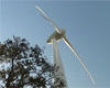 wind turbine supplying renewable energy to Dursley Swimming Pool
