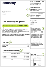 Your electricity and gas bill