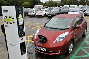 nissan leaf at one of our electric highway charge points