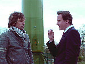 Vince & Cameron talking at Reading windmill, 2008