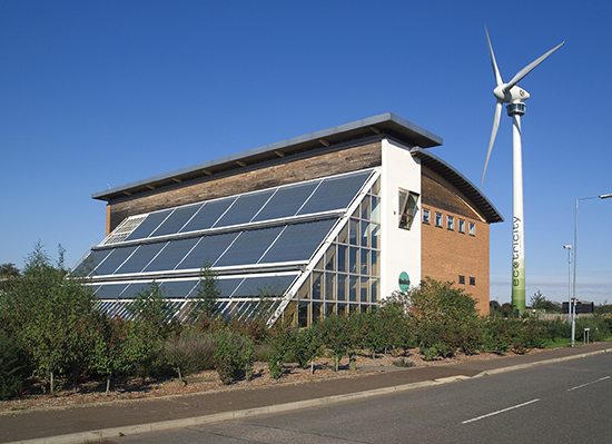 Green Britain Centre with windmill