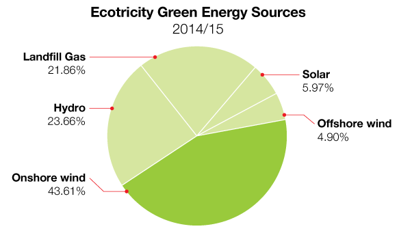 Pie chart showing breakdown of our Fuel Mix