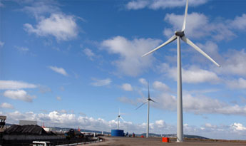 Our three magnificent turbines at Avonmouth