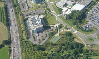 Our Green Park turbine next to the M4
