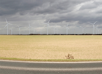 Artists impression of Heckington Fen wind turbines