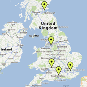 Map of our case studies