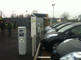 Nissan Leafs at New Lawn